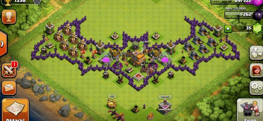 Скопировать базу в Clash of Clans