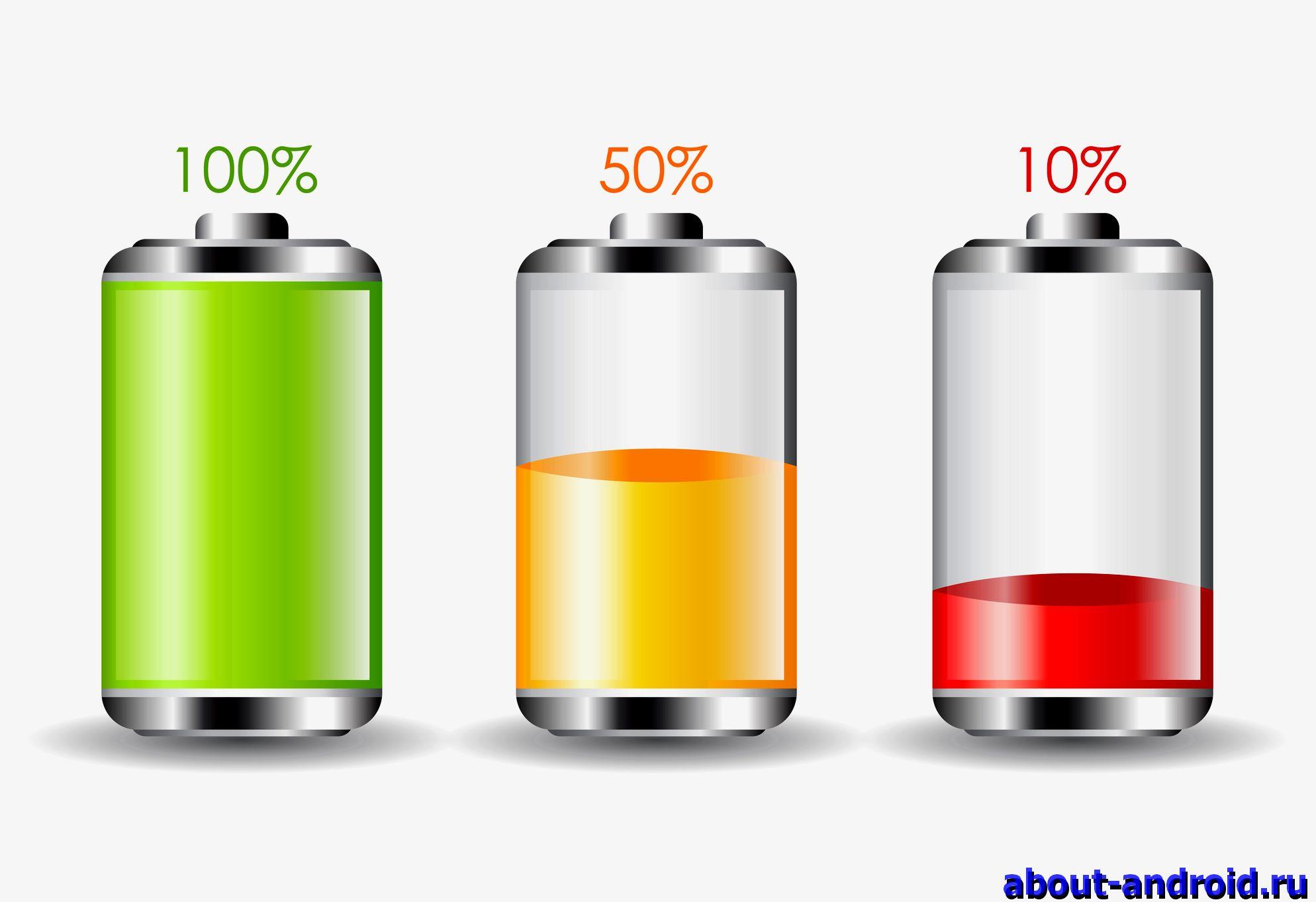 Как сделать проценты зарядки на Андроид